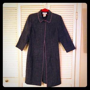 {Vintage}EUC Pinup 3/4 sleeve longline blazer
